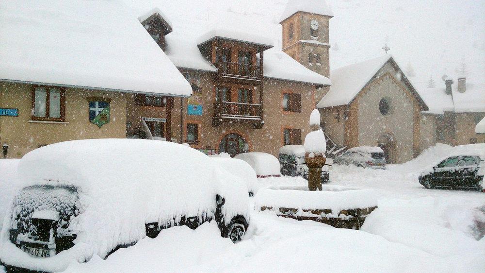 Jour de neige à Crévoux