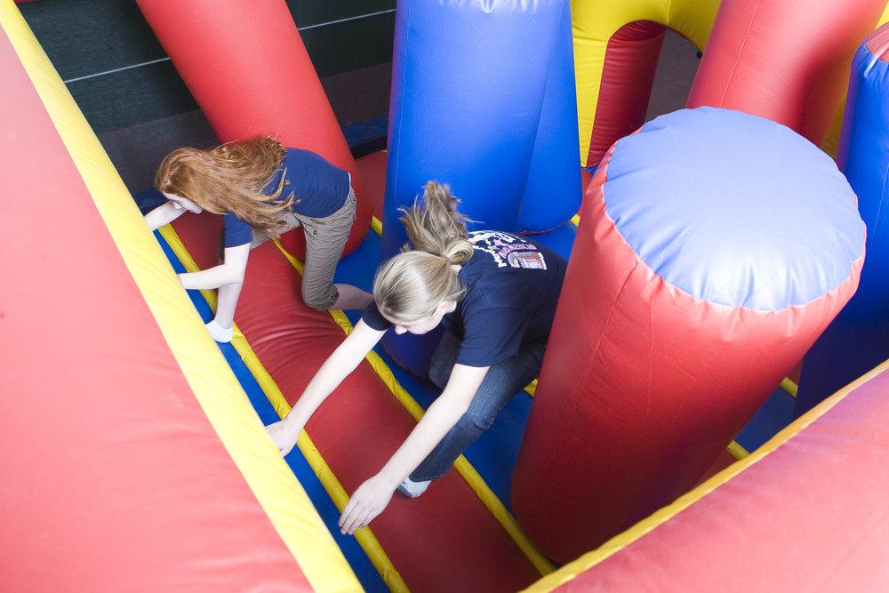 Kids at The Fun Zone at Cranmore, NH.