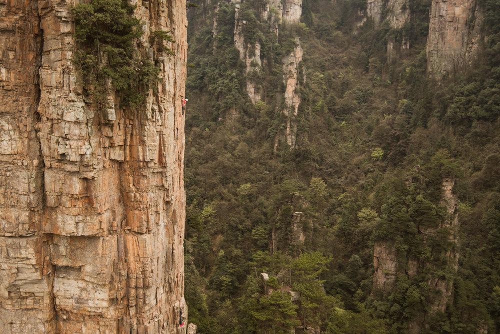 Beeindruckende Kletterei am Red Pillar in China - © adidas outdoor | Patrick Stieber