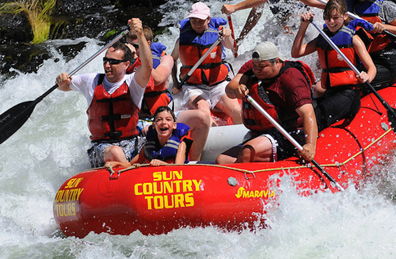 The Big Eddy river suplies big fun for those looking for Class III rapids. - © Sun Country Tours