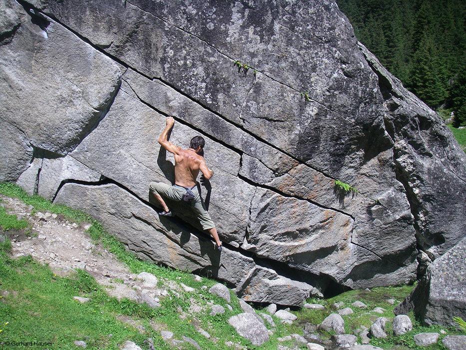 Auch Boulderprobleme warten darauf, in den ewigen Jagdgründen gelöst zu werden - © Bernd Ritschel