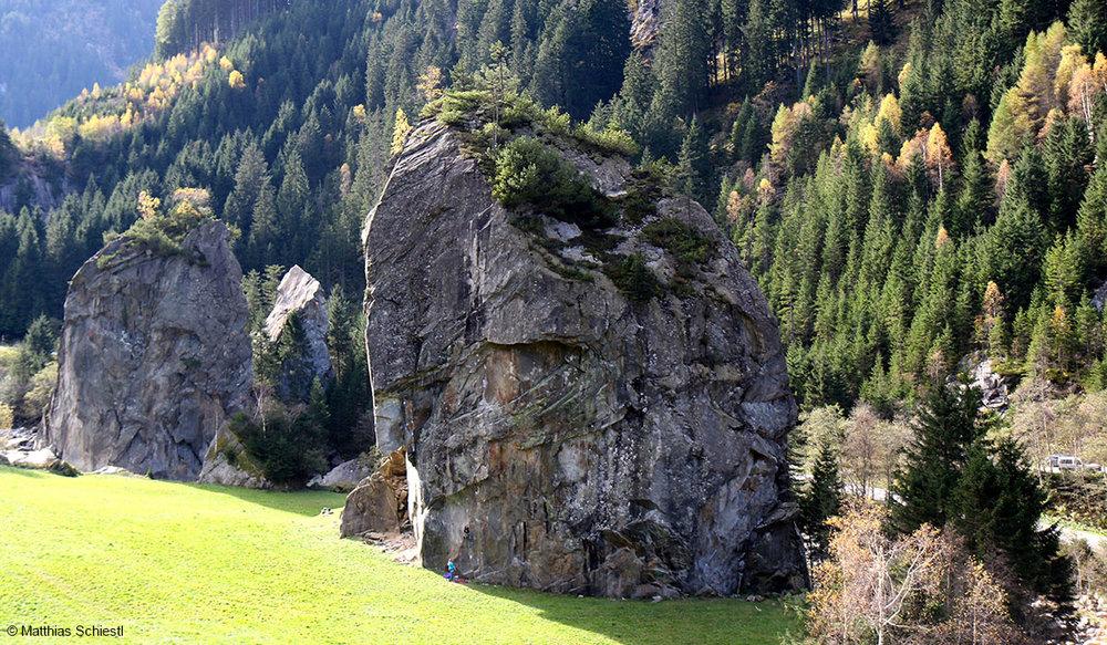 Der Häuptling ist einer der fünf Felsen in den ewigen Jagdgründen - © Matthias Schiestl