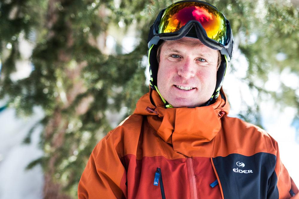 K. C. Gaudet (37) har vært med i frikjøringsverdenscupen og jobber som skiinstruktør. - © Liam Doran