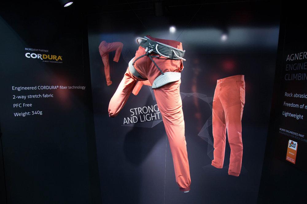 Interessante Kletter- und Berghose: Salewa Agner Engineered Pant mit CORDURA® Fiber Technology - © Bergleben.de