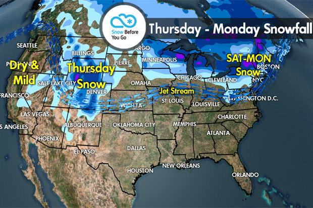 Snow Before You Go: Shifting Storm Track - © Meteorologist Chris Tomer