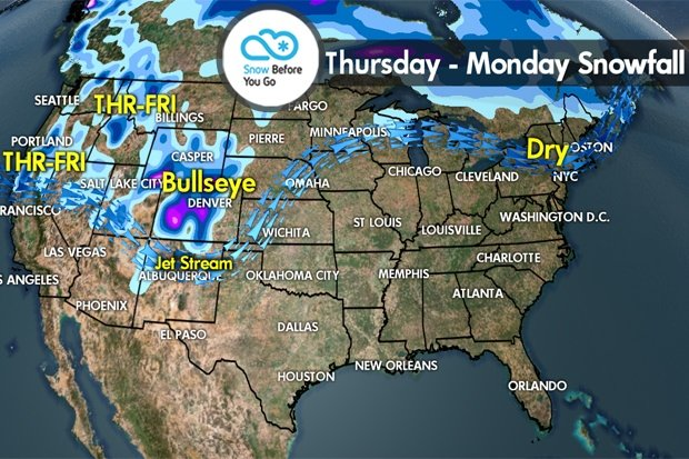 Snow Before You Go: Significant Ski Area Snow Totals for Colorado  - © Meteorologist Chris Tomer