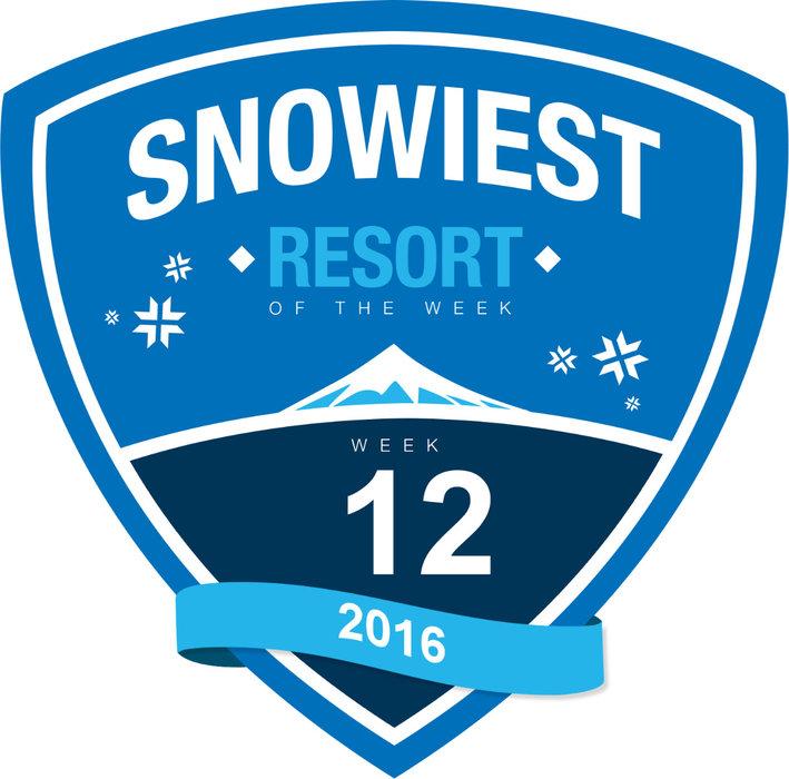 Sneeuwrijkste gebied week 12. - © Skiinfo
