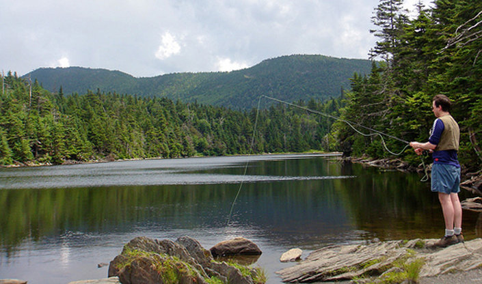 A moderate 45-minute hike along the Long Trail brings you to the shores of Sterling Pond. - © Carrie Kasper