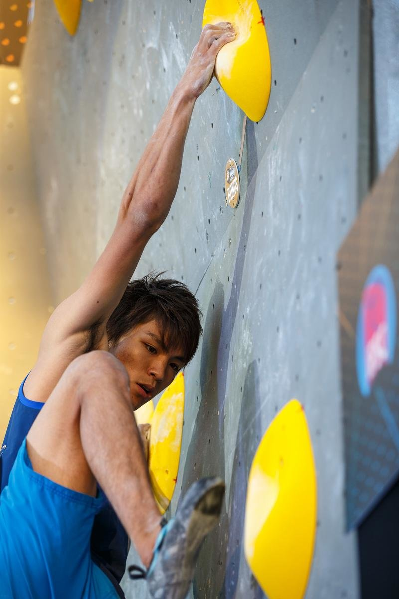 Tomoa Narasaki beim Boulder-Weltcup in München 2016 - © DAV / Marco Kost