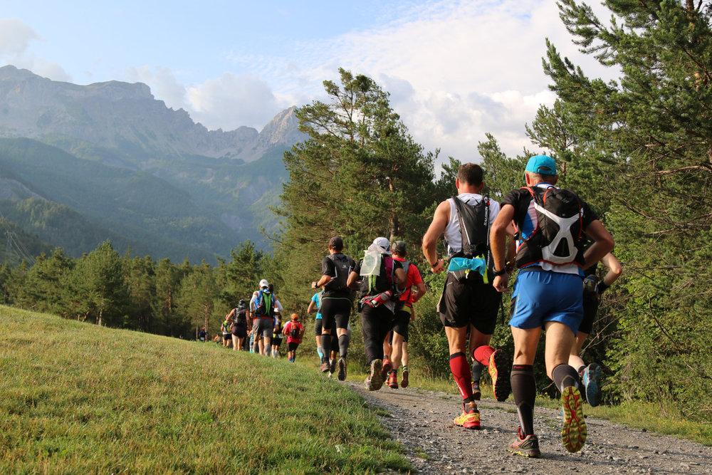 L'Ubaye Trail Salomon conjugue sections rapides, montées et descentes techniques, entre forêts, alpages et passages rocheux sur fond de paysages magnifiques... - © Robert Goin