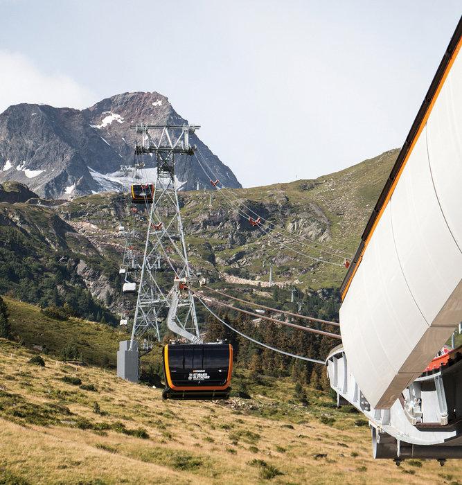 Die neue 3S Eisgratbahn - © Stubaier Gletscher