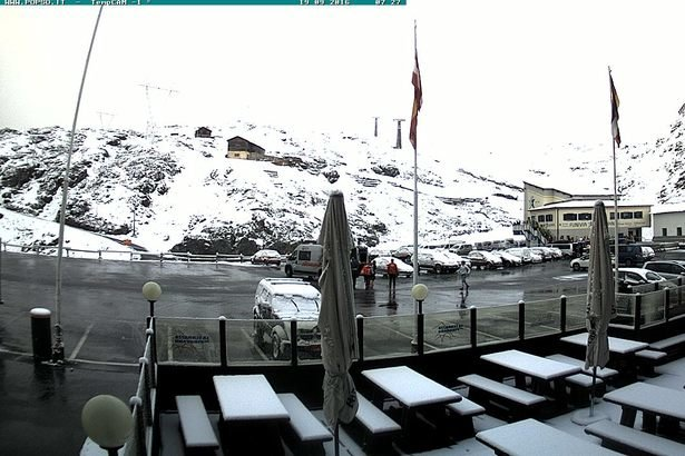 Passo Stelvio, prima neve d'autunno 18.09.16 - © Webcam Passo Stelvio