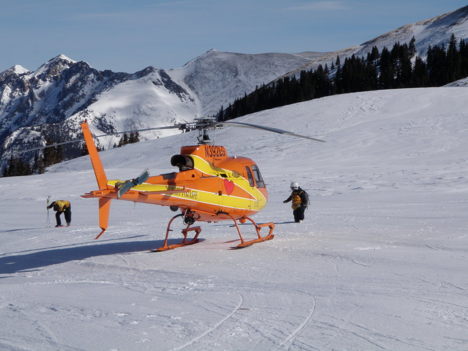 Rescue helicopter at Copper, CO.