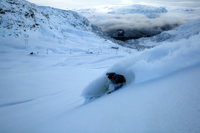 Plenty of off-piste powder in Roldal, Norway - ©Røldal