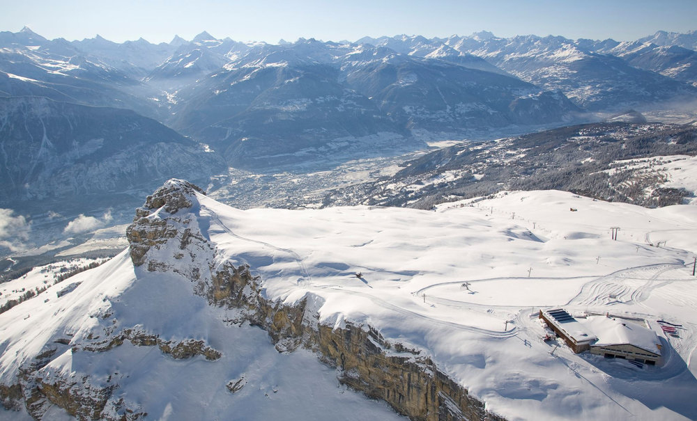 Paysage hivernal sur les hauteurs de Crans Montana - © Crans-Montana Tourisme & Congrès