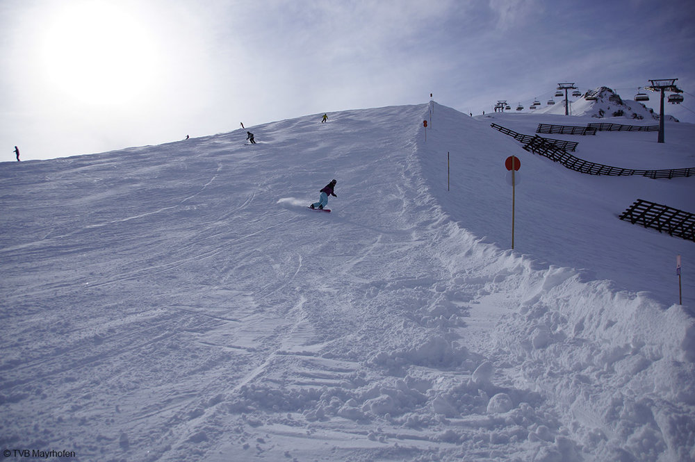 Die rote Piste Nr. 10 in Mayrhofen - © TVB Mayrhofen