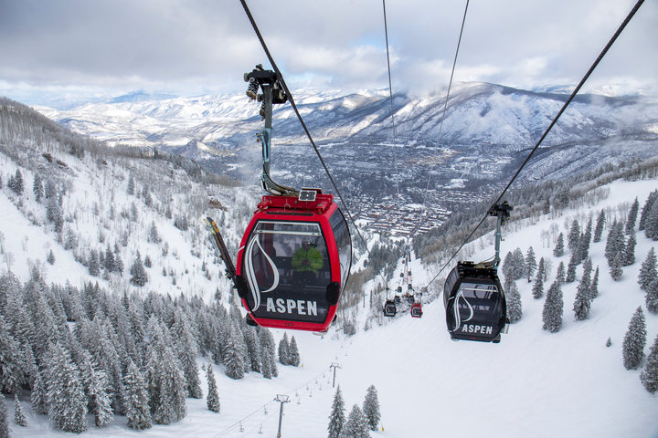 Up, up and away at Aspen Snowmass. - © Jesse Hoffman