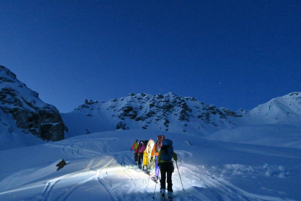 Fantastisk lys så tidlig på morgenen. Vi hadde fjellet helt for oss selv. - © Øydis Kristine Flateby