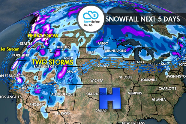 Thanksgiving Snow Before You Go: Feet for Tahoe, Pac NW, BC - © Meteorologist Chris Tomer