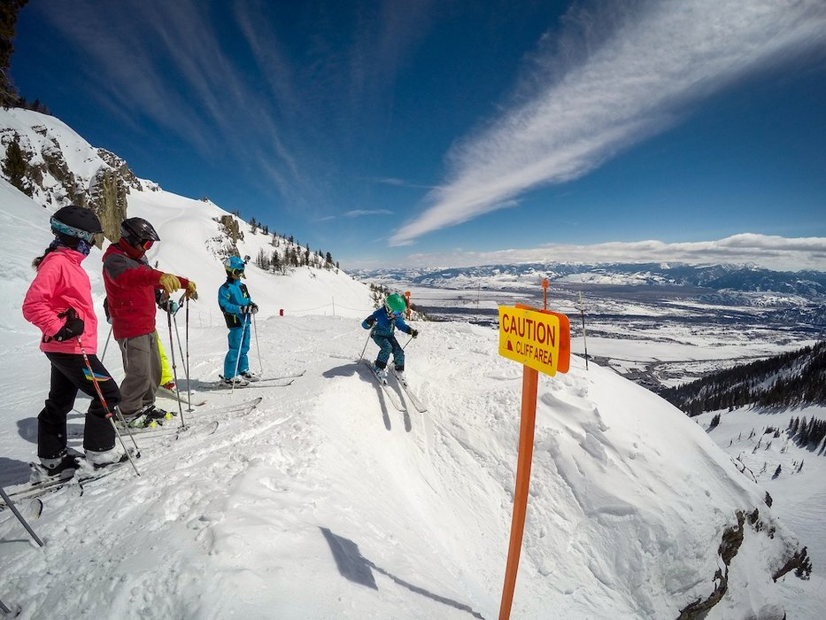 """""""Go ahead son, I'll make sure it's safe from up here."""" - © Jackson Hole Mountain Resort"""
