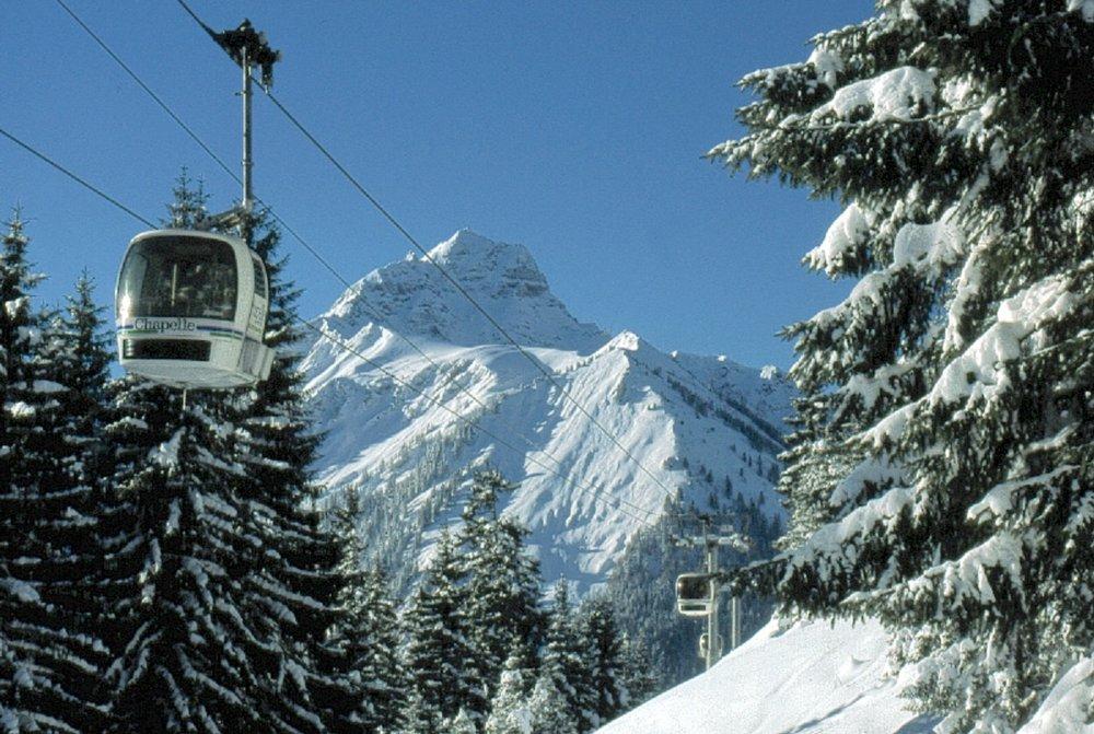 En route pour les pistes de ski de la Chapelle d'Abondance...