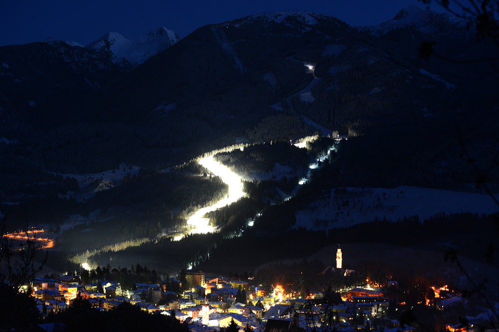 Alpe Cermis, Cavalese - Pista illuminata - © Orlerimages per Visitfiemme.it
