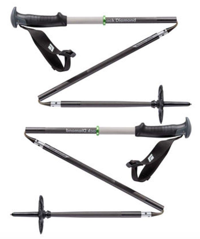 Disse er lette og enkle å få med seg. Carbon compactor ski poles fra Black Diamond. - © http://blackdiamondequipment.com/en_NO/homepage