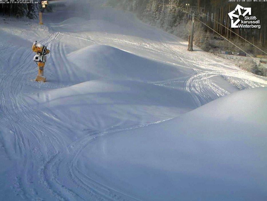 In Winterberg konnte man in den letzten Tagen viel beschneien - © Facebook Skiliftkarusell Winterberg