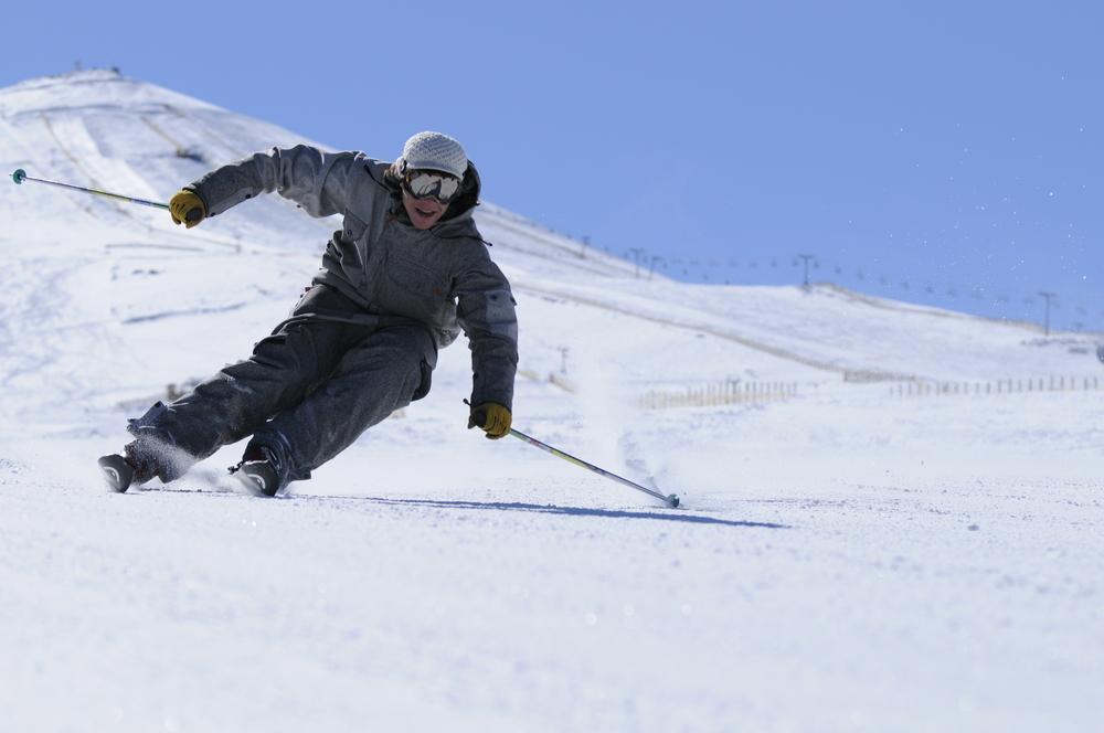 Skier at El Colorado, Chile. El Colorado Tourism