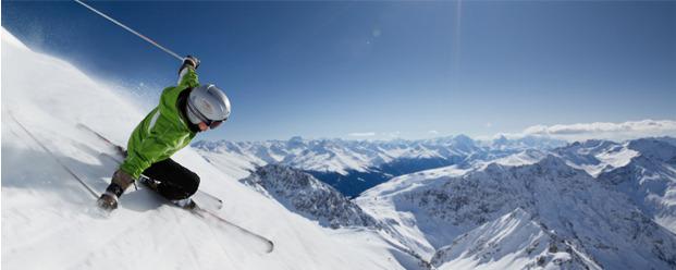 Skiër in Chamonix