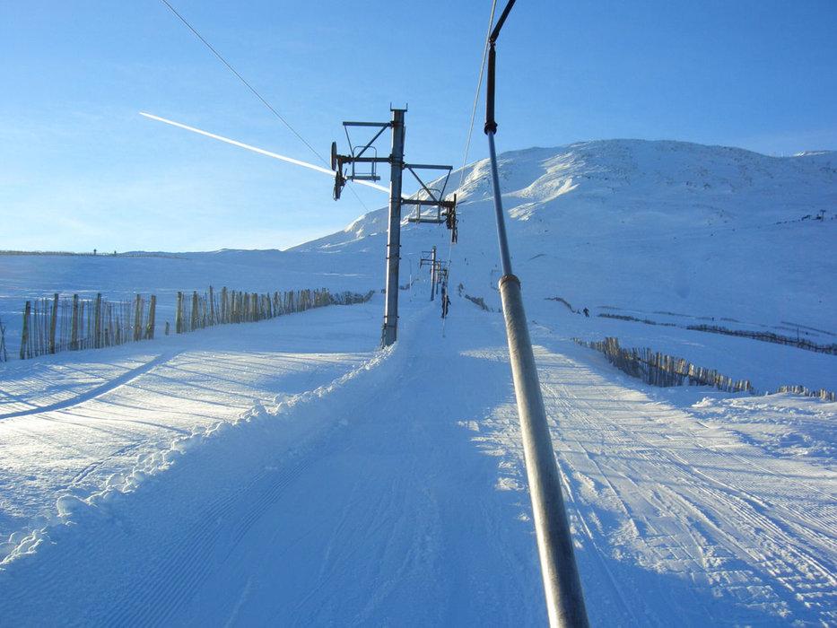 Riding up the lifts of Glencoe (Glencoe Mountain Ltd)
