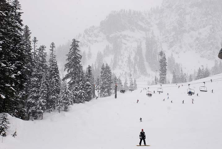 The slopes at Alpental, WA.
