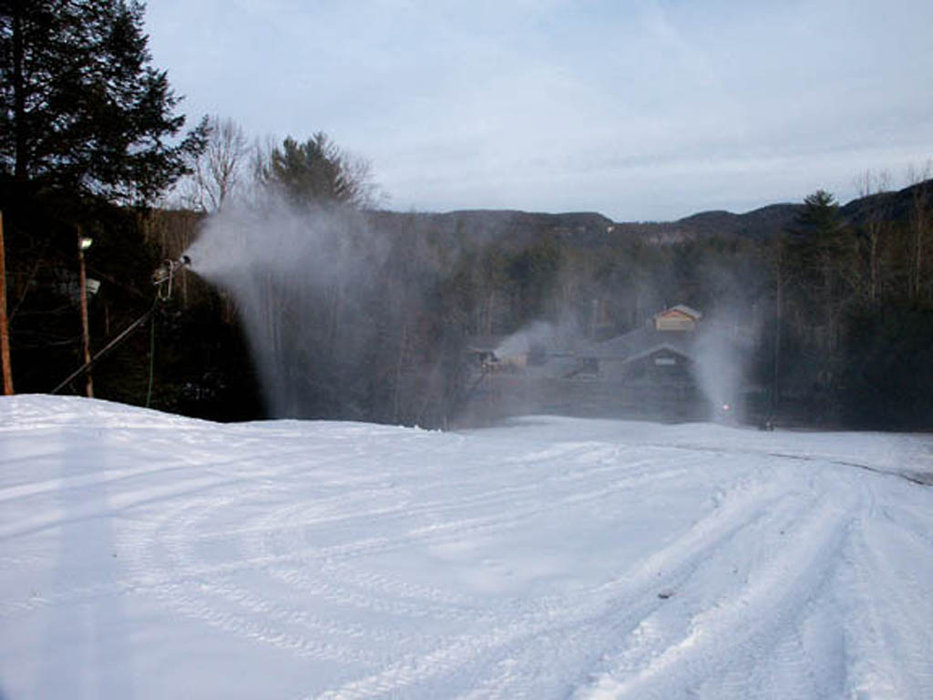 Snowmaking underway at Sapphire Valley, NC.