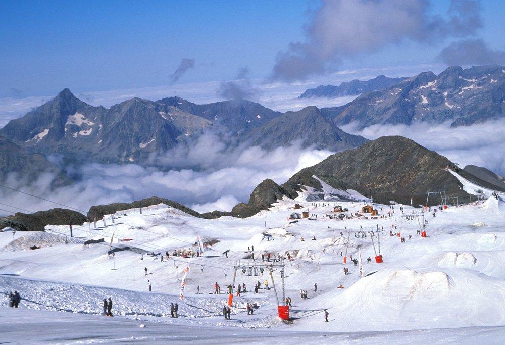 Les Deux Alpes glacier snowpark - © Kathy Ribier