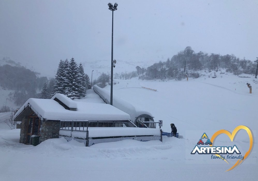 Neve fresca ad Artesina Mondolè Ski, 24.01.19 - © Artesina Mondolè Ski Facebook