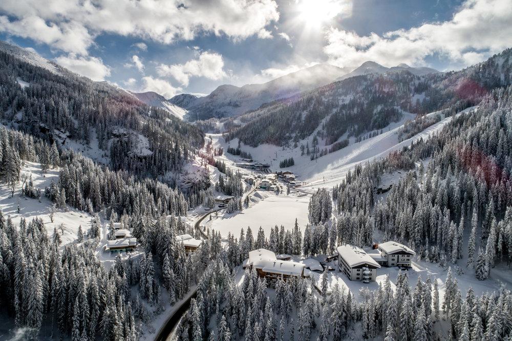 Verschneites Panorama im Januar 2019 - © Zauchensee Liftgesellschaft