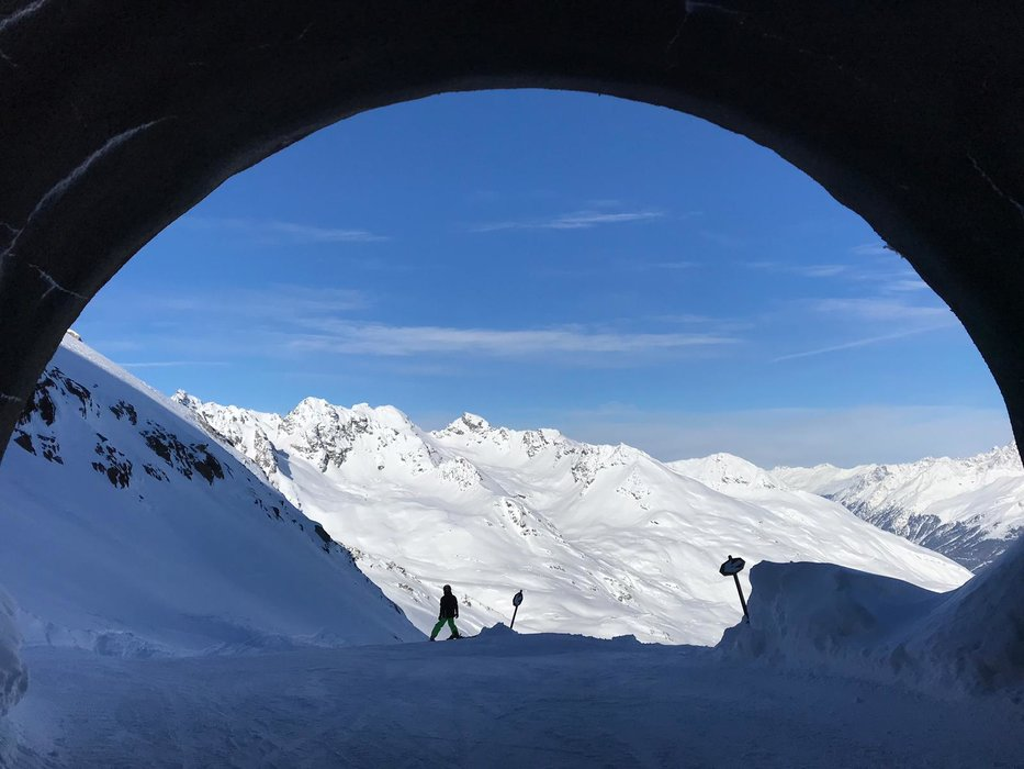 Panorama im Skigebiet Kaunertaler Gletscher - © Kaunertaler Gletscherbahnen