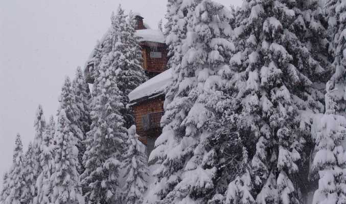 Avoriaz covert in snow