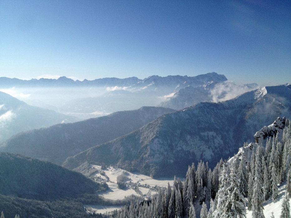 Blick von der Laber Bergstation nach Süden - © Ammergauer Alpen GmbH | Gemeinde Oberammergau. Foto: Nicole Richter