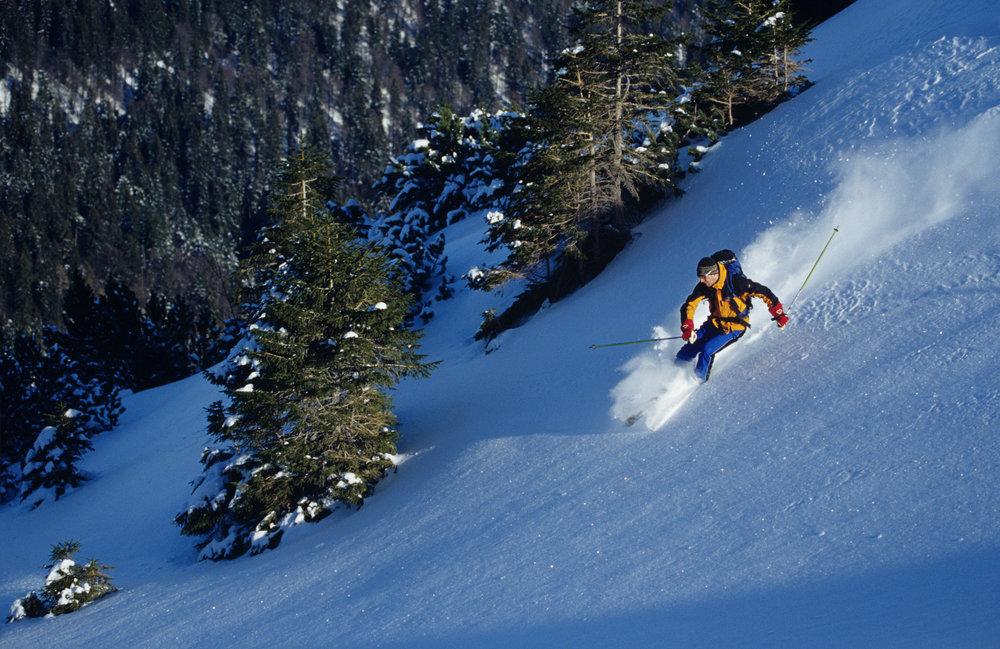 Skifahren auf der Skiroute in Laber - © Ammergauer Alpen GmbH | Gemeinde Oberammergau. Foto: