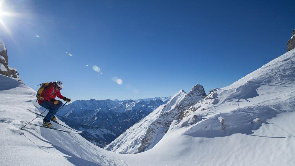 Das Dammkar gehört zu den beliebtesten Freeride-Gebieten Deutschlands - © Alpenwelt Karwendel
