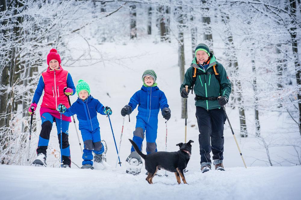 Schneeschuhwandern bei Furth im Süden des Bayerischen Wald - © Lisa Stöberl