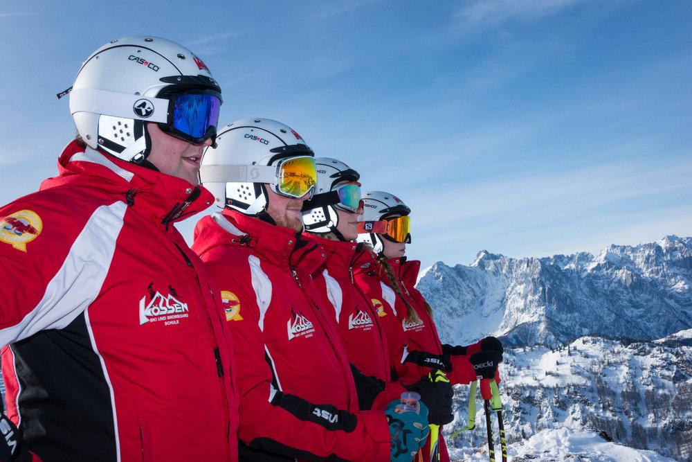 Skilehrer in Hochkössen - © Bergbahnen Kössen