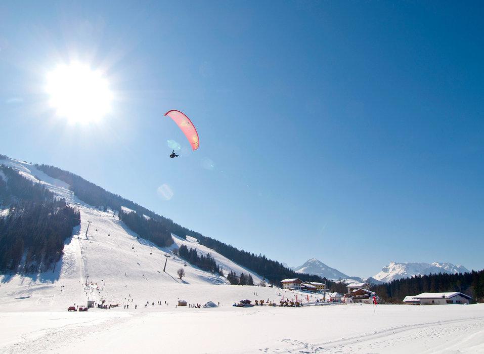 Panorama im Skigebiet Hochkössen - © Bergbahnen Kössen