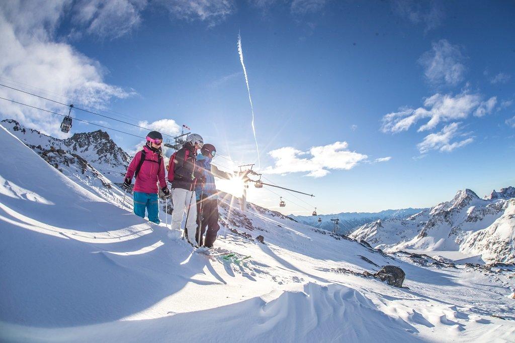 Skifahrer am Mölltaler Gletscher - © TMR, a.s.