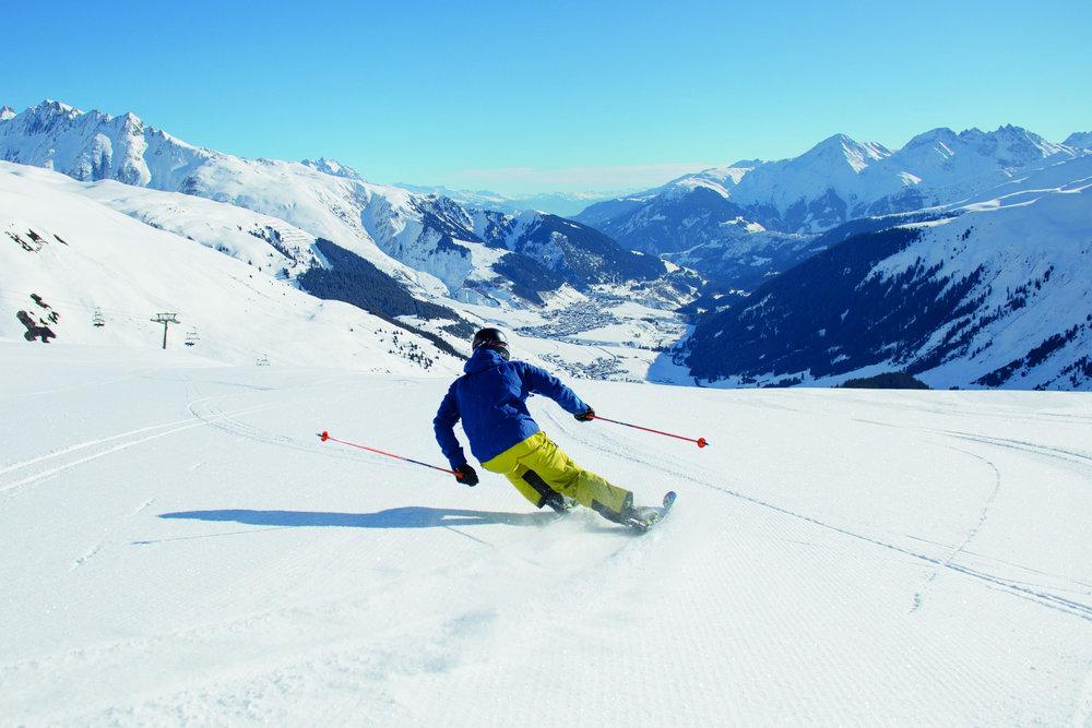 Skifahren in Andermatt Disentis Sedrun - © Valentin Luthiger