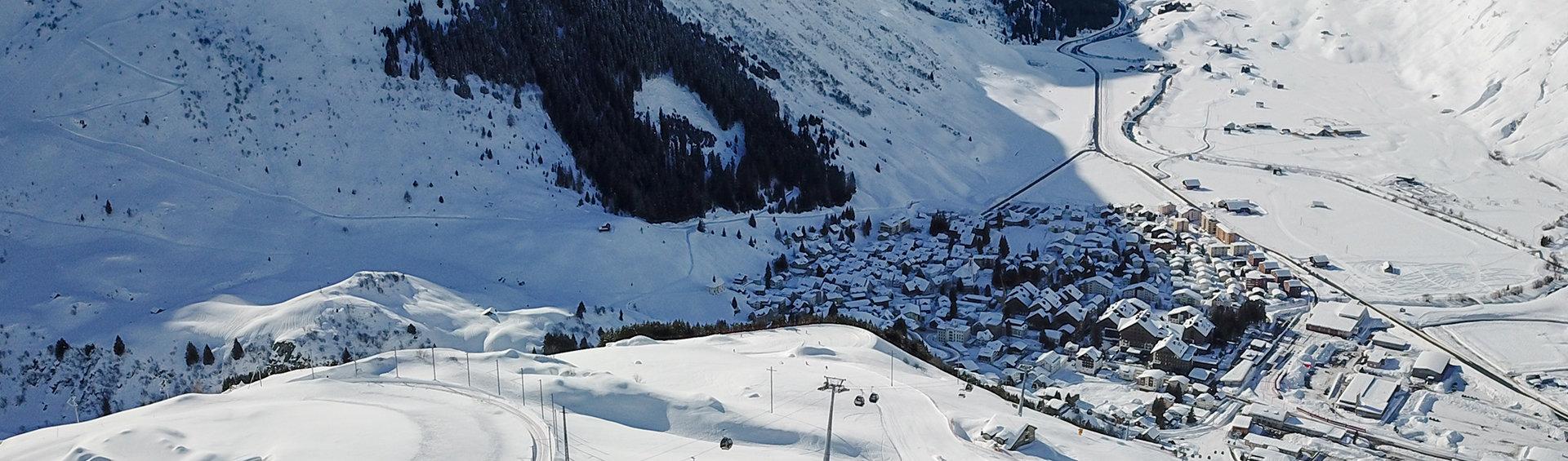 Blick auf Andermatt - © SkiArena Andermatt-Sedrun-Disentis