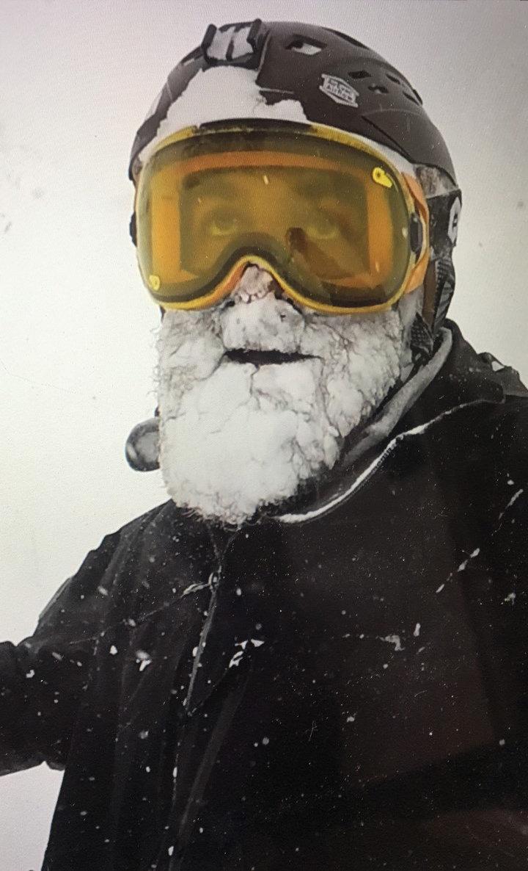 Powder beard perfection.