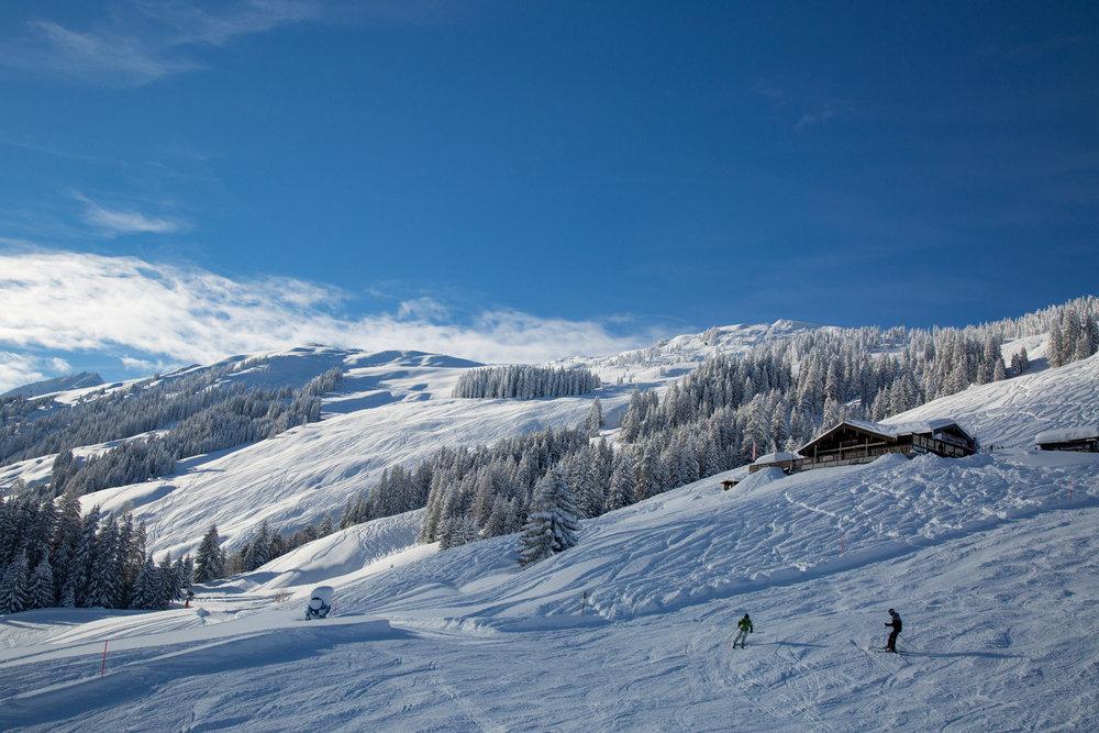 Neve fresca a Kitzbühel 13.1.19 - Il cottage Bruggeralm si trova nella fantastica cornice delle Alpi di Kitzbühel - © Skiinfo