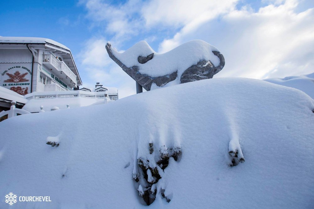 Powder piles up overnight in Courchevel 28/1/19 - © Courchevel/Facebook